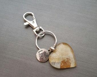 Heart Pendant Key Chain, Key Chain, Heart Key Chain, Handmade