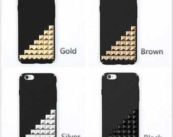 studded iPhone 7 case iPhone 7 plus case iPhone 6 plus case  iPhone 6/6s case iPhone SE case black case