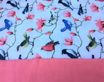 Weighted Blanket / Autism / Sensory Processing Disorder / ADHD / Self-Regulation / Spring / Bird Print / Washable