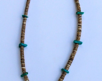 AUTHENTIC Handmade Native American Turquoise Navajo Necklace