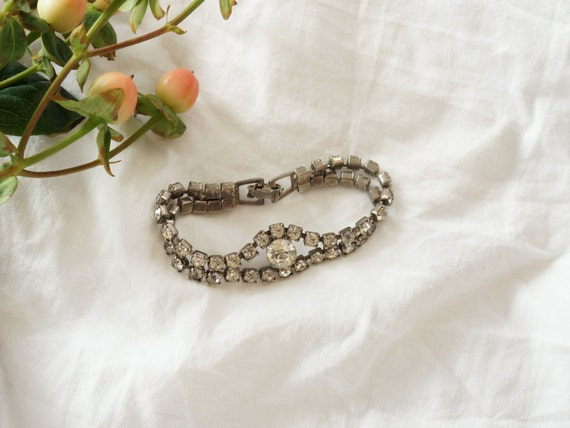 1950s rhinestone bracelet