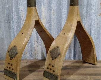 Middle Eastern Camel Saddle Wooden Legs, Middle Eastern Camel Saddle Parts, Nefertiti, Egyptian Decor