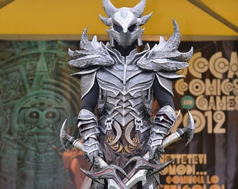 Skyrim Daedric armor cospaly replica pepakura paper set to build your own