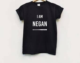 I am negan round neck tee shirt /t shirt / fun tee / serie t-shirt / unisex shirt / Hipster / negan tees / zombie t-shirt/ the walking dead
