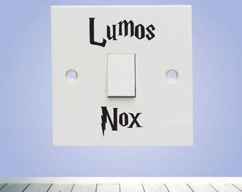 x2 Lumos Nox - Harry Potter Vinyl Decal Sticker - Light switch sticker decal