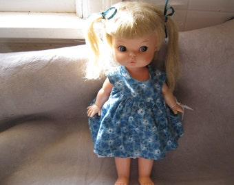 Vintage 1968 Horsman Doll 1960s doll 10 Inches Tall Horsman Inc. Doll  Free Shipping