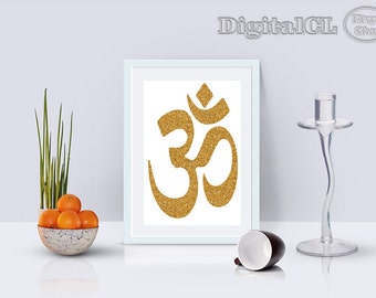 Printable wall art om wall art home decor Spirituality glitter printable art