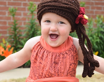 Moana Crochet Hat
