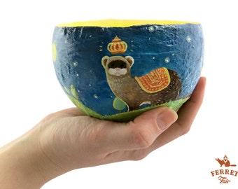 Ferret Bowl (Paper mache)