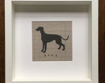 Greyhound Personalised Dog silhouette picture