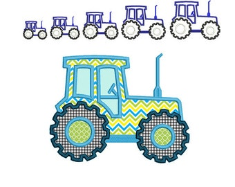Tractor Machine Embroidery Applique Design. Tractor Applique Design. Applique for boys. Farming tractor. Monogram Embroidery.