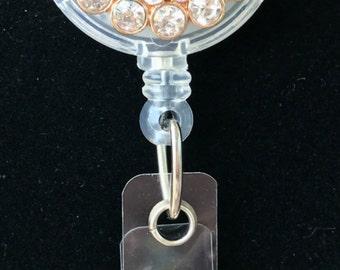 Rhinestone Pearl Gold Badge Reel