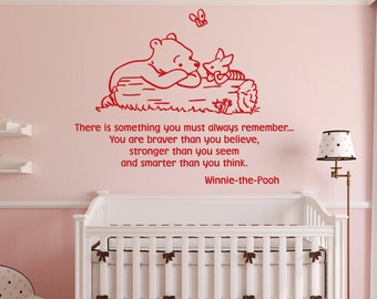 Winnie the Pooh Wall Decals Classic There Is Something You Must Always Remember Winnie The Pooh Wall Decal Nursery Classic Pooh ET017