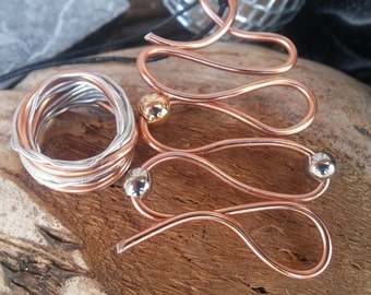 Aluminium and steel pendant