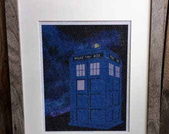 TARDIS Inspried Print With Orginal Art