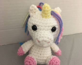 Crochet Rainbow Baby Unicorn