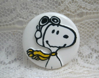 Snoopy Flying Ace Plastic Sewing Button Peanuts Gang Charles Schulz