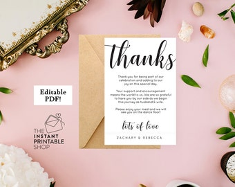 Beach Wedding thank you card template Starfish