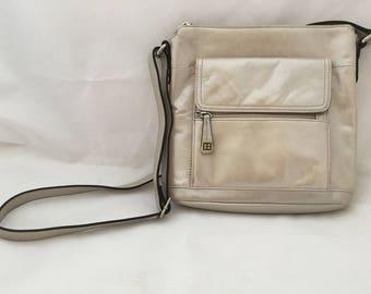 Giani Bernini Vintage Crossbody bag in silvery beige taupe