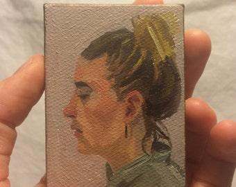 Custom miniature portrait painting