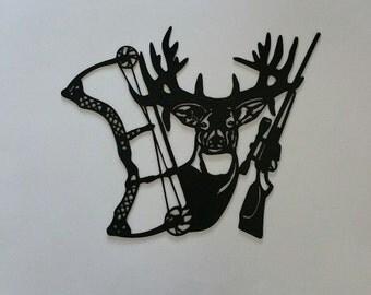 deer metal wall art etsy