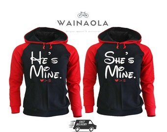He's Mine She's Mine Love is Bigger than Money Valentine's Day Couple Matching Hoodies Pärchen Shirts Gifts for Him King Queen Hoodie