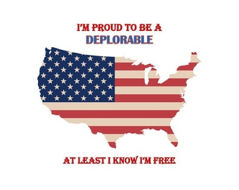 Deplorable T Shirts Etsy - Deplorable trump supporters hats with us map of red states