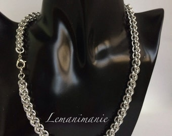 Weaving chainmail Choker necklace/JPL