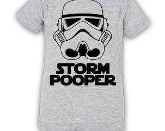 Star Wars Onesie / Storm Pooper Onesie / Storm Pooper / Onesies for Boys / Onesies for Girls / Storm Trooper Onesie / Funny Baby onesies