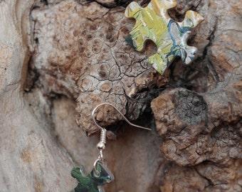 Puzzle Van Gogh - the pair earrings