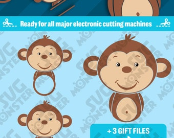 Unique Cute Monkey Svg Related Items Etsy