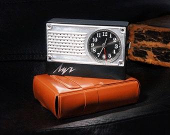 "Vintage Soviet alarm clock Luch ""RAY""-Travel alarm clock -Soviet watch -Retro clock- Pocket watch with alarm clock USSR -Travel pocket watch"