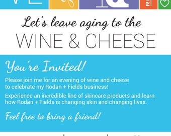 Rodan and Fields (Big Biz Launch) Wine & Cheese Party - Evite or Printable Invite CUSTOMIZED DIGITAL FILE