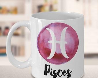 Pisces Mug - Pisces Gifts - Zodiac Mug - Horoscope Coffee Mug - Birthday Mug - Astrology Gift - Metaphysical, Celestial, Horoscopes