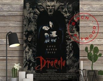 BRAM STOKER'S DRACULA - Poster on Wood, Gary Oldman, Winona Ryder, Keanu Reeves, Movie Poster, Unique Gift, Print on Wood, Wood Gift