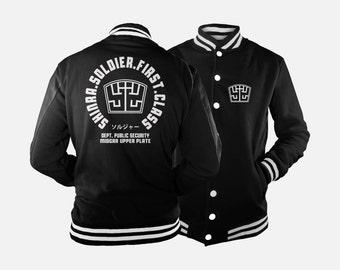Shinra Soldier Varsity Jacket inspired by Final Fantasy