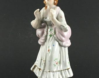 Vintage Victorian / Edwardian Porcelain Lady Figurine, Hand Painted, Japan