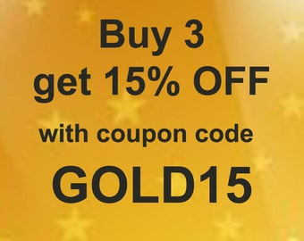 15% OFF coupon code to use for with your order
