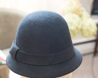 Gorgeous black heavy wool hat
