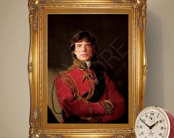 Mick Jagger Renaissance Portrait Print, The Rolling Stones Poster