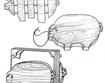 Piglet Set Kitchen Helpers #306 - Woodworking / Craft Pattern