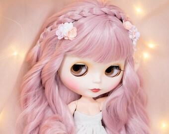 """Set of 2 pc. Flower hairpin + mini comb for Blythe, BJD, Pullip, Tangkou, Disney Animator, Monster high 17 """" dolls."""