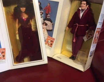 Rhett Butler Scarlett O'Hara World Doll Pair MIB  Red Velvet Smoking Jacket