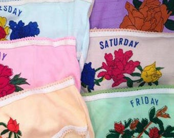 1970's Days Of The Week Nylon Deadstock Children's Knickers
