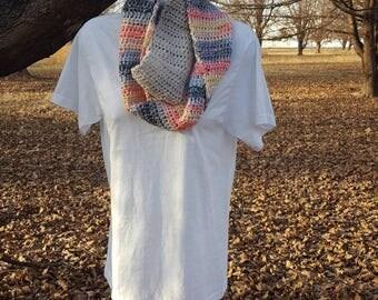 2 tone infinity scarf - handmade