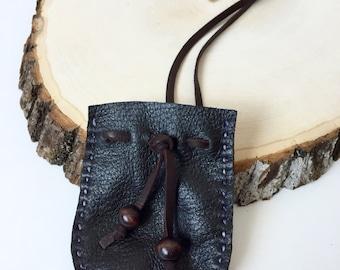 Dark Chocolate Buckskin Medicine Bags