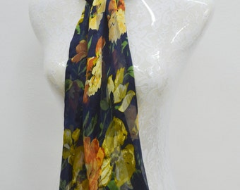 FREE SHIPPING!!! MARC Rozier Vintage Marc Rozier Paris Rectangle/Oblong/Sheer/Long Made in France 100% Silk Scarf