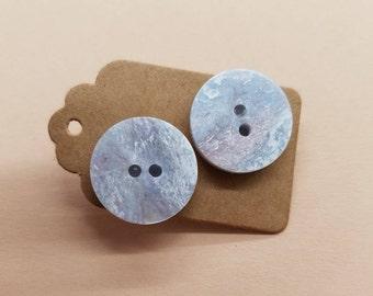 Handmade Button Earrings 23