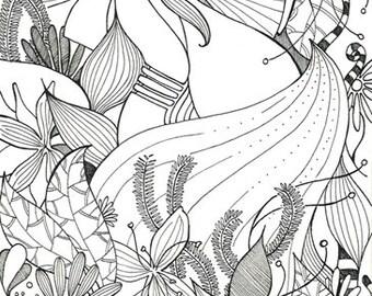 """Illustraizione """"the garden"""" original"""