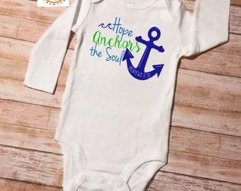 Christian Onesie, Baby Shower Gift, Christian Baby Gift, Anchor Onesie, Scripture Onesie, Baby Onesie, Baby Gift, Coming Home Outfit